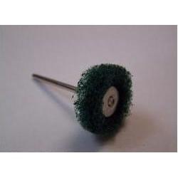 Szczoteczka z włókniny polerskiej zielona